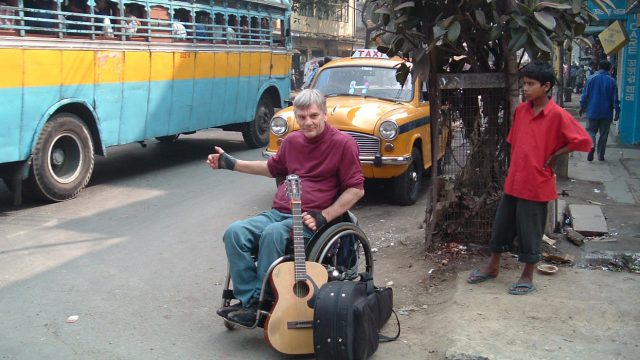 Tom Doughty hitching in India