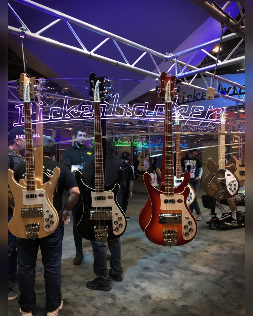 The Rickenbacker stand, Winter NAMM 2019 by Duncan Andrews