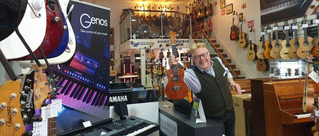 Alan Kilvington in his shop