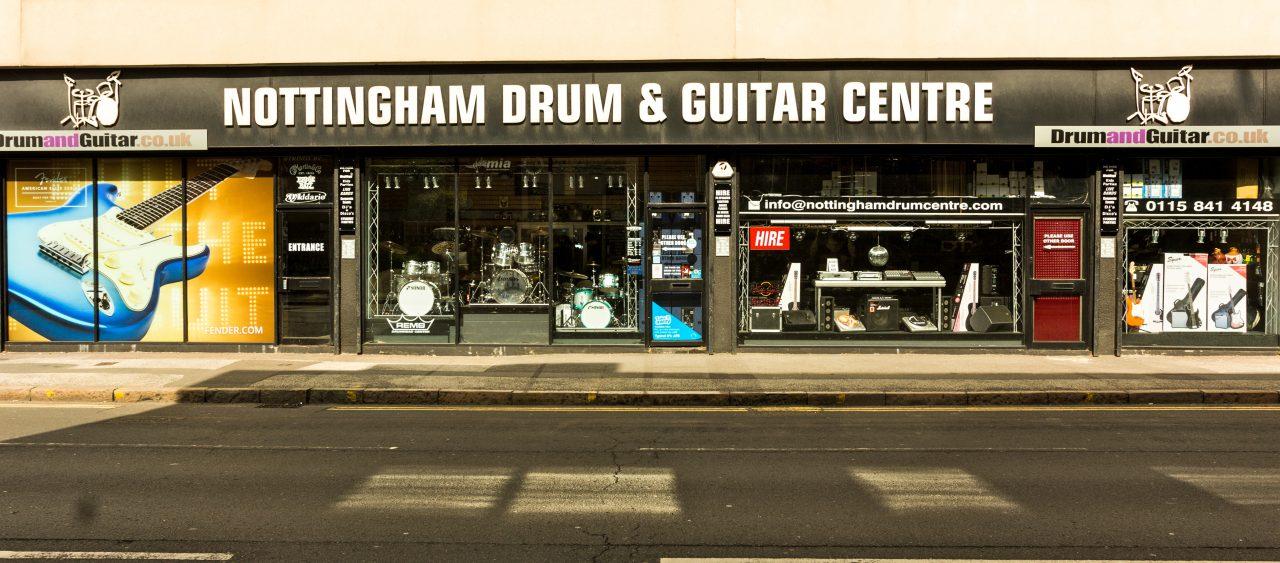 Nottingham Drum & Guitar Centre Shop Front