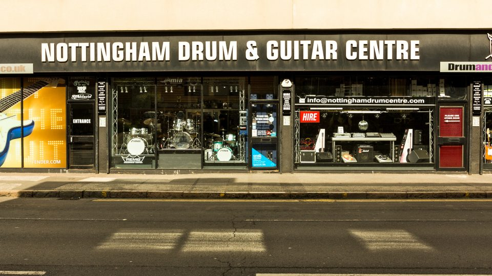 Nottingham Drum & Guitar Centre Shop Front
