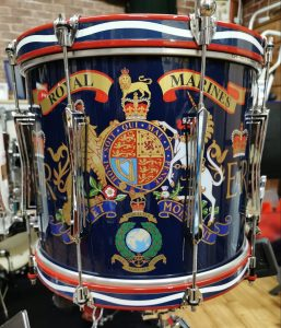 Royal Marines marching drum