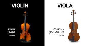 Violin size 36 cm - viola size 39-41cm