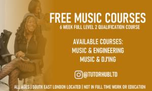 Free music courses 6 weeks available for music & engineering, Music & DJing @tutorhubltd