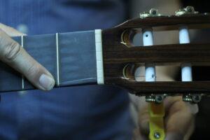 restringing classival guitar