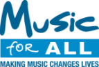 music for all logo making music changes lives